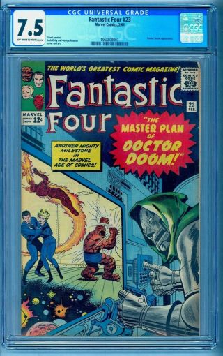 Fantastic Four 23 Cgc 7.  5 Doctor Doom Bright Under Graded See Our 48 49 50