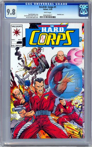 H.  A.  R.  D.  Corps 1 Cgc 9.  8 Bob Layton Jim Lee Art David Michelinie Story 1992