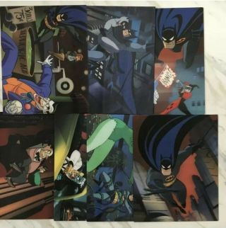 Batman The Complete Animated Series Blu - Ray Lenticular Collector Cards