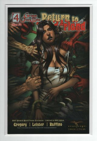 Grimm Fairy Tales Return To Wonderland 4 (wizard World Texas Exclusive) Nm -