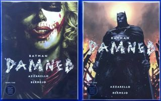 Batman Damned 2 Cover A & B Jim Lee Higher Grade Nm,  Bagged & Boarded