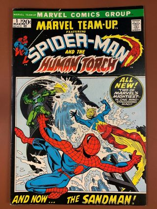 Marvel Team Up 1 Marvel Comics Spider - Man Human Torch Appearance Bronze Age