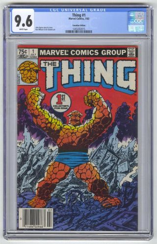 Thing 1 Cgc 9.  6 Marvel Comic Key 1st Issue Canadian Edition 75c
