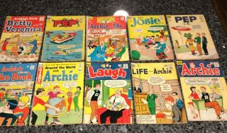 Rare Set Of Mixed Archie Comics Mostly Silver Age And In Mid Grade Few Lower