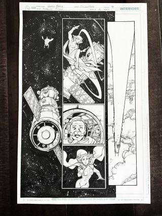 George Perez Art For Worlds Finest 6 Inked By Sandra Hope