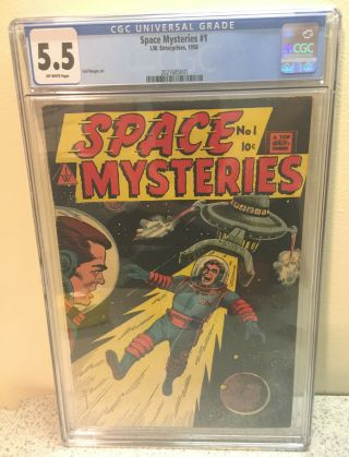 1958 I.  W.  Enterprises Space Mysteries 1 Comic Book Only One Ever Cgc Graded 5.  5