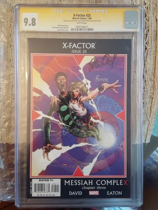 X - Factor 25 Messiah Complex Chapter 3 Cgc 9.  8 Signed By Finch&peter Davis