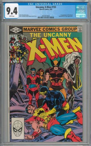 Uncanny X - Men 155 Cgc 9.  4 Nm 1st Appearance Of The Brood White Pages