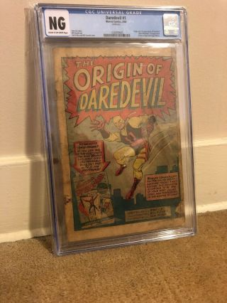 Daredevil (1964 1st Series) 1 Cgc Ng Coverless 1488651001