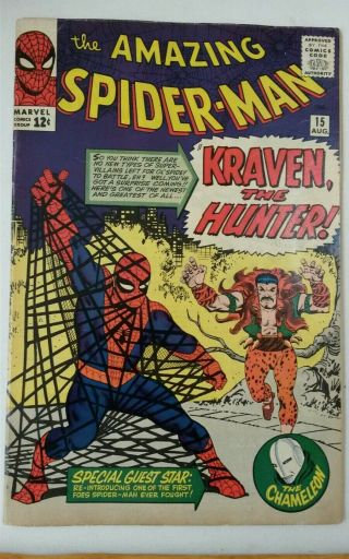 Spider - Man 15 1st App Kraven The Hunter Has (has A Small Cut Out) Key