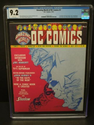 World Of Dc Comics 1 1974 Cgc 9.  2 Wp Unpublished Jack Kirby Story