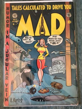 Mad 4 Comic.  1953 Rarity Wood.  Golden Age (best Ive Seen)