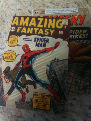Journey Into Mystery 73 Fantasy 15 Prototype 1st Spiderman 1962 2 Books
