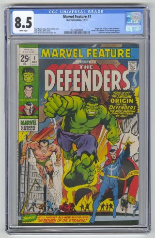 Marvel Feature 1 Cgc 8.  5 Comic Key 1st Defenders White Pages