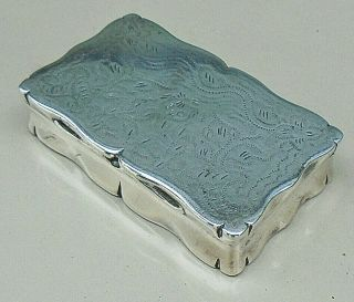 Antique Silver Plated Snuff Box With Stipple Engraving C.  1840