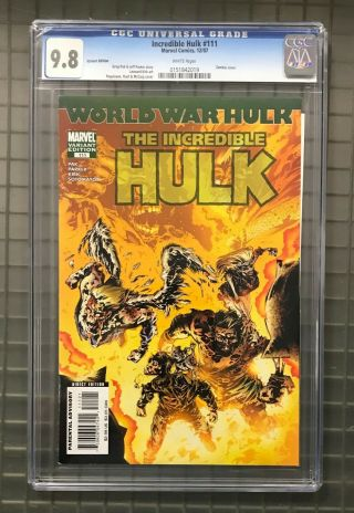 Incredible Hulk 111 Marvel Comics 2007 Cgc 9.  8 Variant Edition Zombie Cover