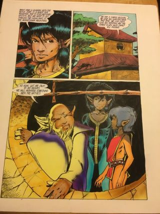 Elflord Unknown Page 3 Art By Barry Blair Dale Keown 14x17 Aircelcomics