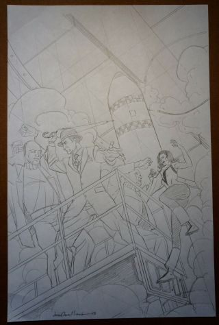 Drew Johnson - Preliminary Cover Art For Steed & Mrs.  Peele - Signed