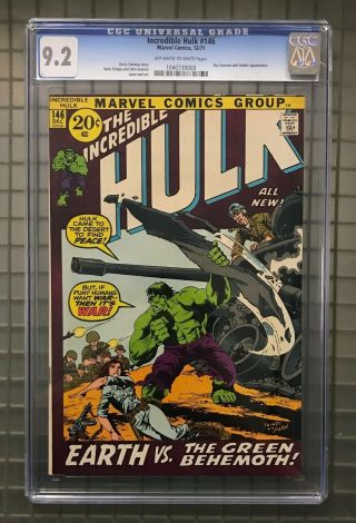 Incredible Hulk 146 Marvel Comics 1971 Cgc 9.  2 Doc Samson & Leader Appearance