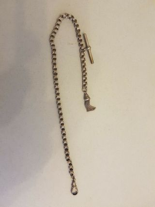 Late Victorian Plated Circular Link Watch Chain With