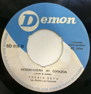 Fresia Soto - Chile Rare Single Northern Soul Unchain My Heart 45 Rpm 7 ""