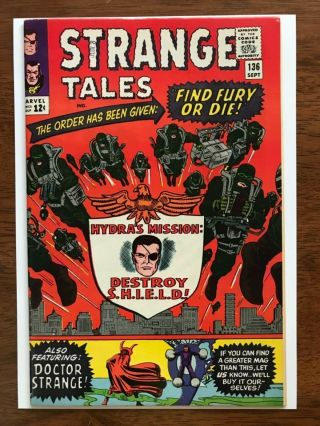 Strange Tales 136 Nm - 9.  2 White Pages Newstand Quality Bright Color Gloss