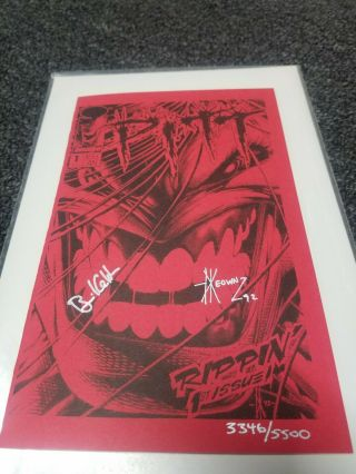 Image Comic Book - Pitt - 1 Ashcan - Signed By Dale Keown,  Brian Hotton 3346/5500 Red