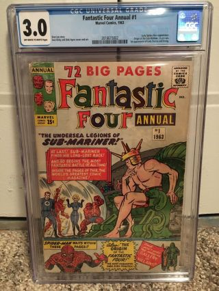 Fantastic Four Annual 1 Cgc 3.  0 Off White/white Pages