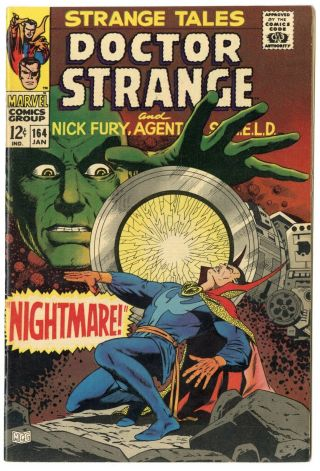 Strange Tales 164 Nm - 9.  2 Ow/white Pages Nick Fury Dr.  Strange Marvel 1968
