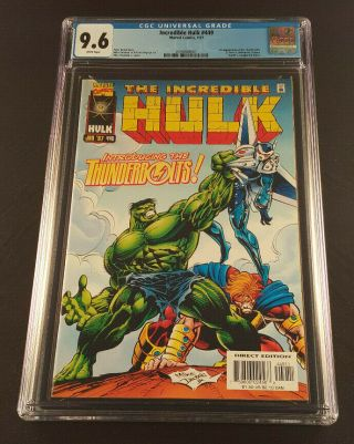 Incredible Hulk 449 Cgc 9.  6 1/97 1st App Of The Thunderbolts