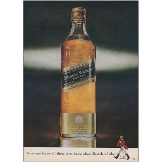 1962 Johnnie Walker: Now You Know All There Is To Know Vintage Print Ad