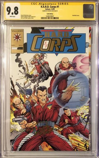 H.  A.  R.  D Corps 1 Gold Signed By Jim Lee Cgc Ss 9.  8