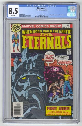Eternals 1 Cgc 8.  5 Marvel Comic Hot Key Movie 1st App White Pages