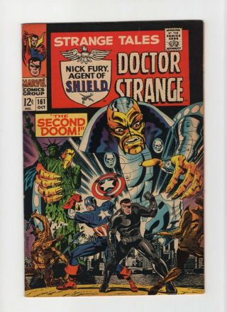 Strange Tales 161 Nm - 9.  2 Marvel Comic Steranko Nick Fury Doctor 12c