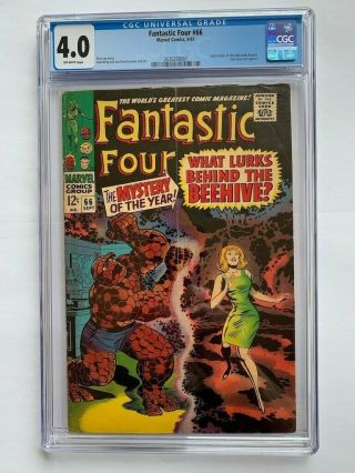 Fantastic Four 66 - Cgc 4.  0 Off White - Key Issue Part 1 Of 2,  Origin Warlock