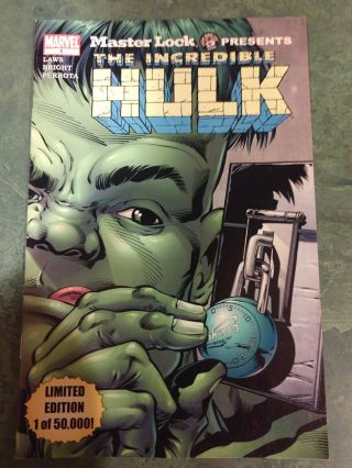Master Lock Presents: Incredible Hulk 1 Marvel Comic Book - 2003