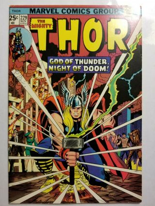 Thor 229 With Hulk 181 Ad,  Marvel Value Stamp Intact (marvel)