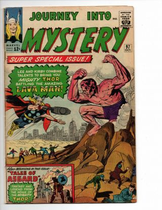 Journey Into Mystery 97 (1963 Marvel Comics) - 1st App.  Lava Man