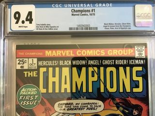 The Champions 1 Cgc 9.  4 Nm White Pages - Origin Of The Champions First Issue