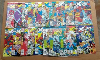 X - Force Complete Run 1 - 40 1st Issue Deadpool