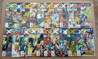 X - Force Complete Run 1 - 40 1st Issue Deadpool ' s 2nd App 1st Domino 1991 VF/NM 2