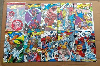 X - Force Complete Run 1 - 40 1st Issue Deadpool ' s 2nd App 1st Domino 1991 VF/NM 5