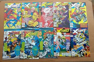 X - Force Complete Run 1 - 40 1st Issue Deadpool ' s 2nd App 1st Domino 1991 VF/NM 6