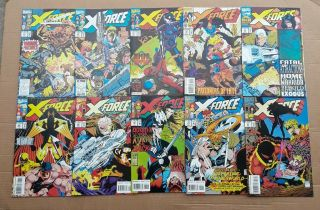 X - Force Complete Run 1 - 40 1st Issue Deadpool ' s 2nd App 1st Domino 1991 VF/NM 8