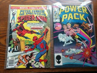 9 1 Marvel Comics Peter Parker,  Human Fly,  Power Pack,  Name Namor,  Nm