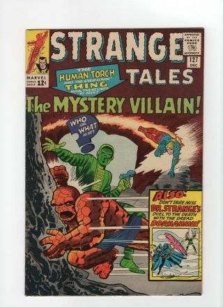Strange Tales 127 Nm - 9.  2 Marvel Comic Thing Torch Dr.  Strange 12c