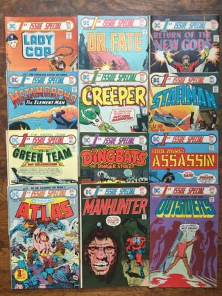 1st Issue Special S 1 - 7,  9 - 13,  Near Complete Run,  Metamorpho,  Gods - Vg/vg,