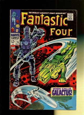 Fantastic Four 74 Vg 3.  5 1 Book When Calls Galactus By Stan Lee & Jack Kirby