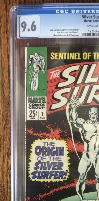 Silver Surfer 1 1968 Vol.  1 cgc 9.  6 7