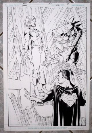 Superman Issue 662 Page 3 Splash Page By Pacheco And Merino